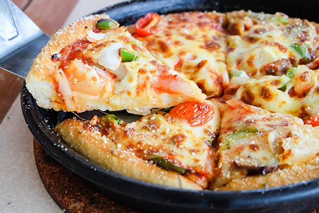 Deep Dish Pizza Cooked in Cast Iron Skillet Recipe