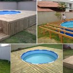 Above Ground Pool With DIY Pallet Deck