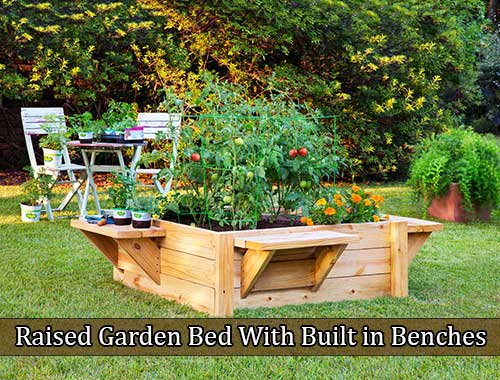 Raised Garden Bed With Built in Benches