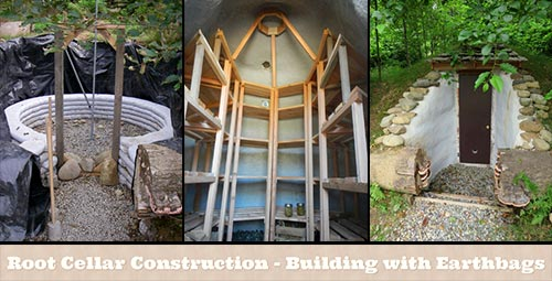 Root Cellar Construction – Building with Earthbags