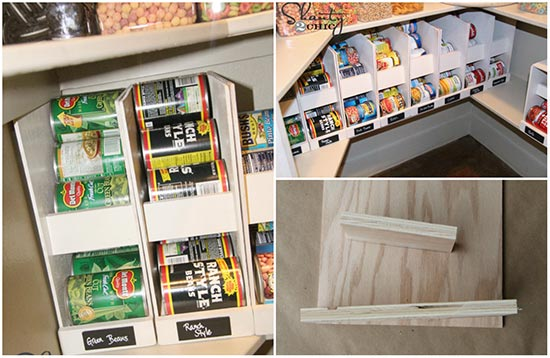 Pantry ideas rotating canned food storage plans for Cost to build a pantry