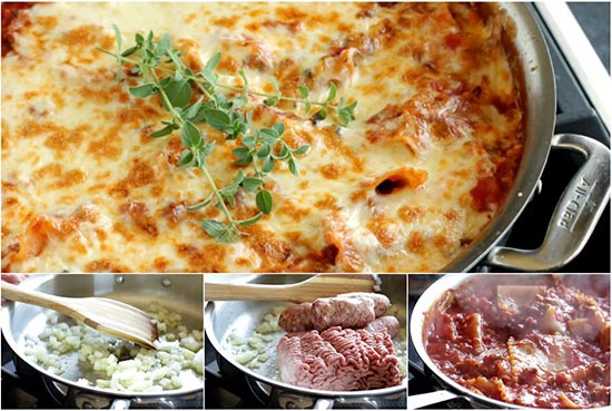 Easy 30 Minute Skillet Lasagna Recipe