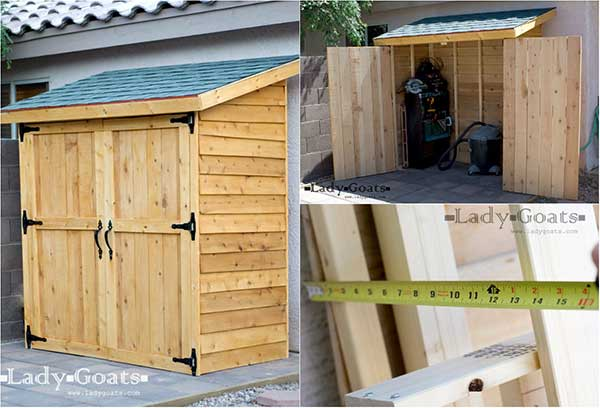 **DIY** Small Cedar Fence Picket Storage Shed