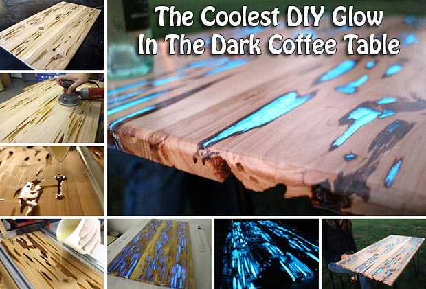 the coolest diy glow in the dark coffee table. Black Bedroom Furniture Sets. Home Design Ideas