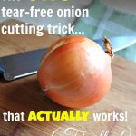 The One Tear-Free Onion Cutting Trick That Actually Works!
