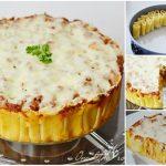 Three Cheese Italian Rigatoni Pie Recipe