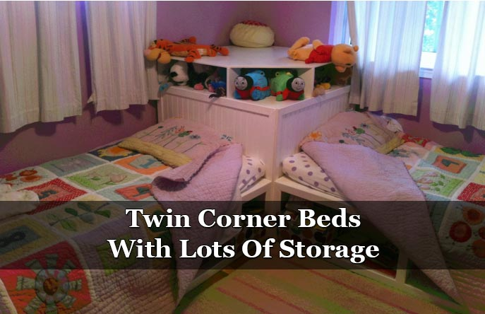 Twin Corner Beds With Lots Of Storage