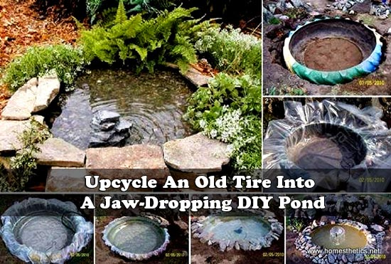 Upcycle An Old Tire Into A Jaw-Dropping DIY Pond