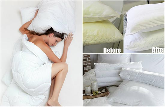 Wash-and-Whiten-Yellowed-Pillows
