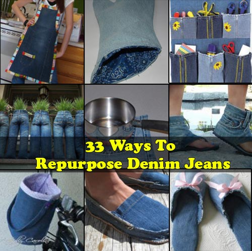 33 Ways To Repurpose Denim Jeans