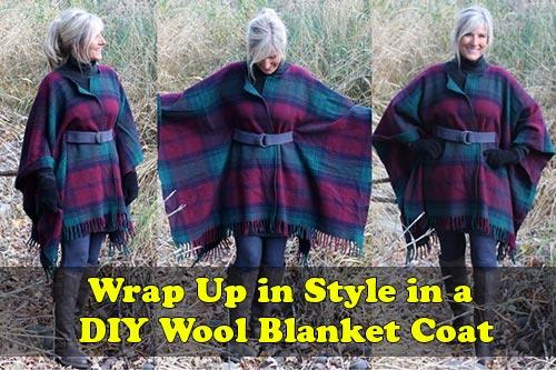 Wrap Up in Style in a DIY Wool Blanket Coat