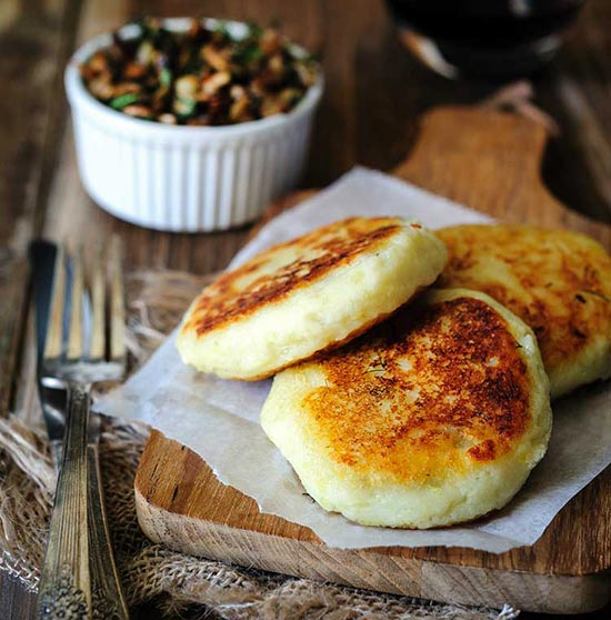 Vegan Potato Cakes stuffed with Mushrooms Recipe